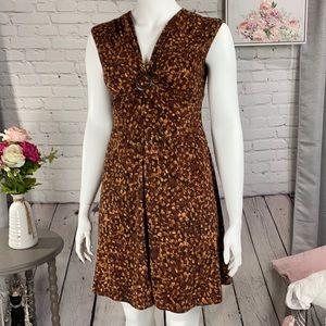CHAPS Brown Dress Size: Large